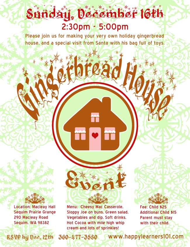 {Gingerbread House Event} Flyer