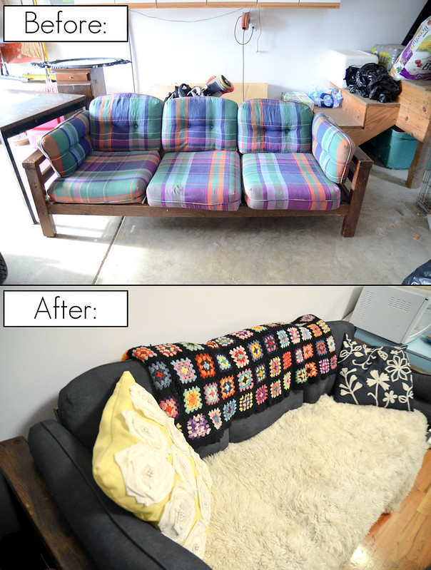 DIY Painted Couch