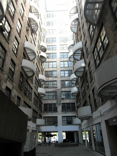 Westbeth Artists Housing, central courtyard