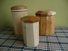 Shrink pots wooden containers