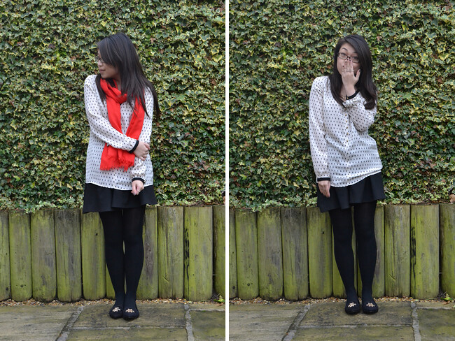 daisybutter - UK Style and Fashion Blog: what i wore, ootd, street style, AW12, fashion blogger, zara, j crew