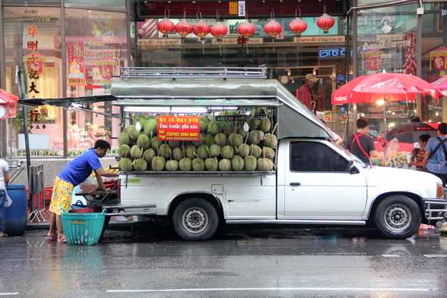 Durian in Bangkok's Chinatown Yaowarat