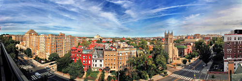 panorama of 16th Street, NW in Washington (by: Schodts, creative commons)