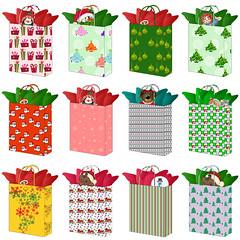 Christmas Gift Bags Graphics Set