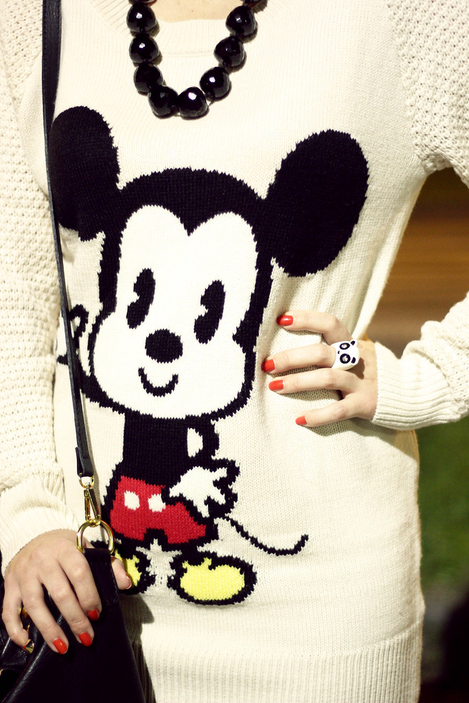 mickey mouse sweater on Life in Curl