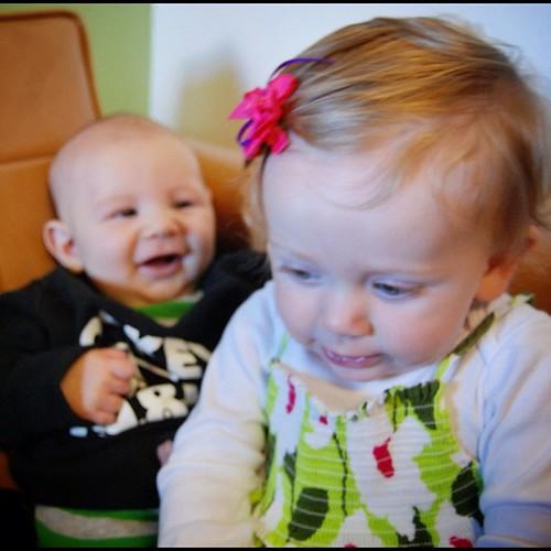 Babies loving Babies