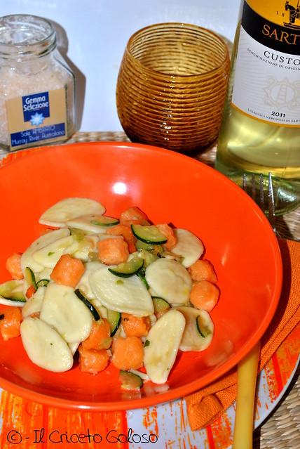 Strascinati con salmone e zucchine