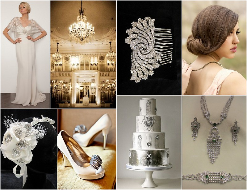 Art Deco Bridal Hair Piece