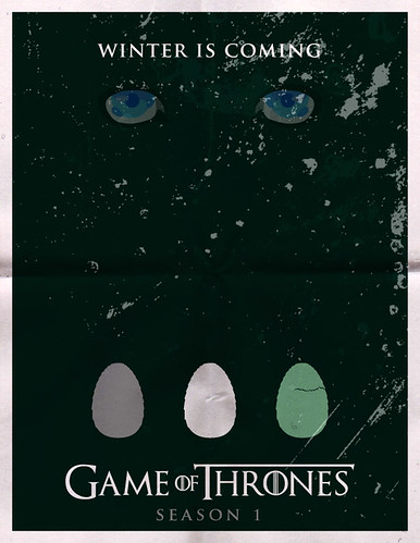 Game of Thrones Minimalist Poster for Season 1 fan art by rycz