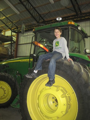 Up on the Wheels of a Tractor