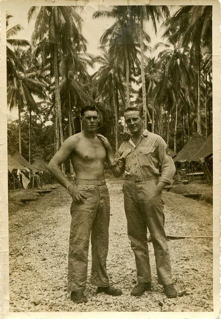 Ken Champlin and Stoney Mason, Guadalacanal - 1944