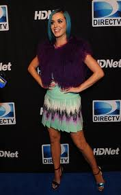 Katy Perry Bright Fur Trend Celebrity Style Women's Fashion