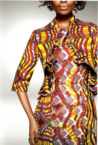 "Detail from ""Look book: Vlisco ""Delicate Shades of African Prints"" downloaded from the website Elegancy. by busboy4"