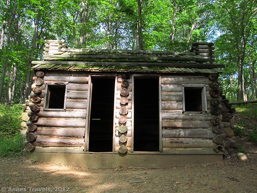 The two-doored soldier's hut at Jockey Hollow, Morristown National Historic Site, New Jersey
