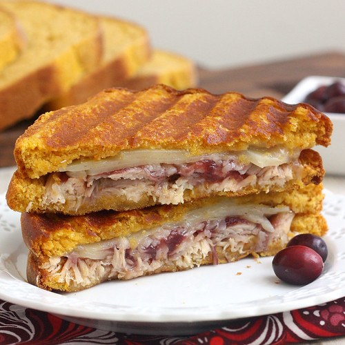 Leftover Turkey and Gruyère Panini