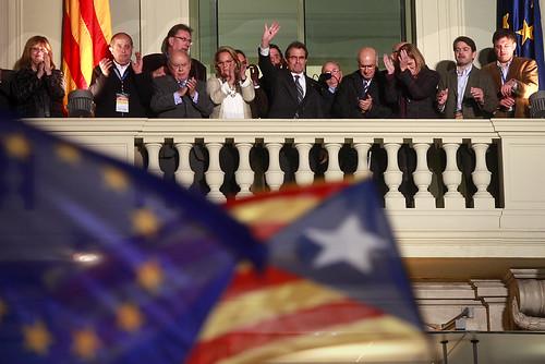 Artur Mas y la plana mayor de CiU tras el 25N