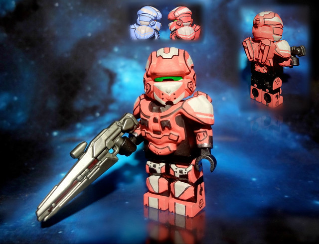 Lego halo 4 infinity slayer spartan iv warrior red - Lego spartan halo ...