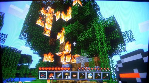MinecraftBurningTree