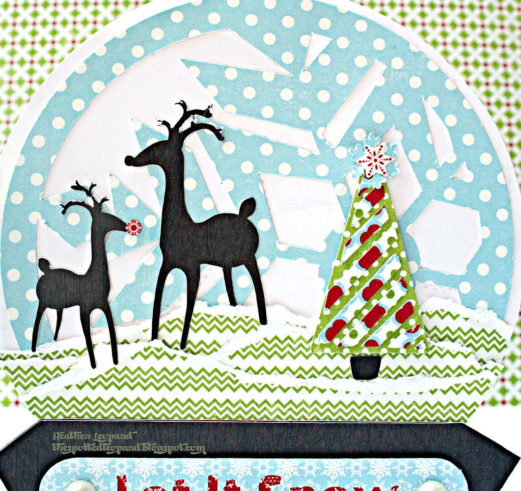 Snow Globe Card scene Heather Leopard