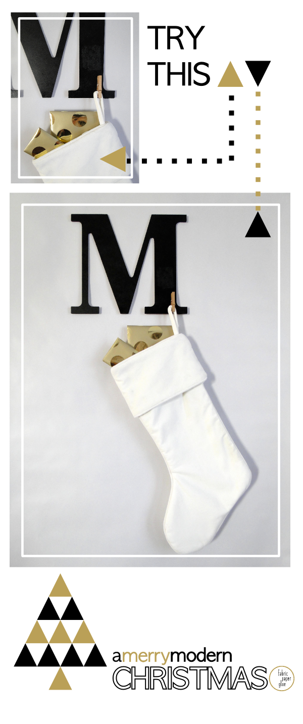 Merry Modern Xmas Monogram Stocking Hanger Tutorial