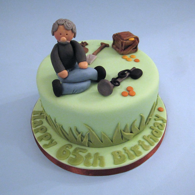 Birthday Cake With Metal Detector