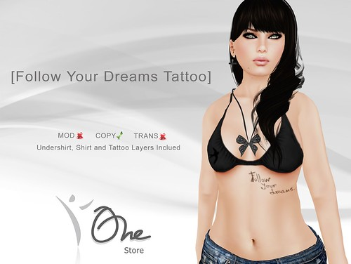 Follow Your Dreams Tattoo