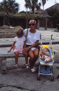 Florida   -   St. Augustine   -   St. George Street  -   Jessica, Jeb & Me   -   August 1977