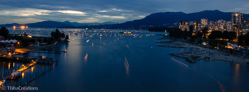Sunset view of Burrard Inlet