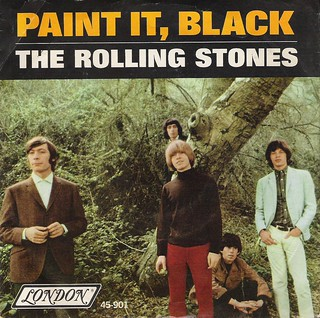 45 RPM - THE ROLLING STONES A) Paint It Black B) Stupid Girl