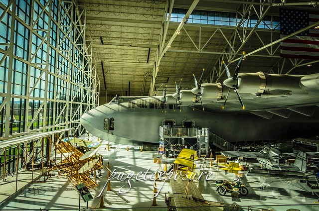 Howard Hughes' Spruce Goose dwarfs the collection