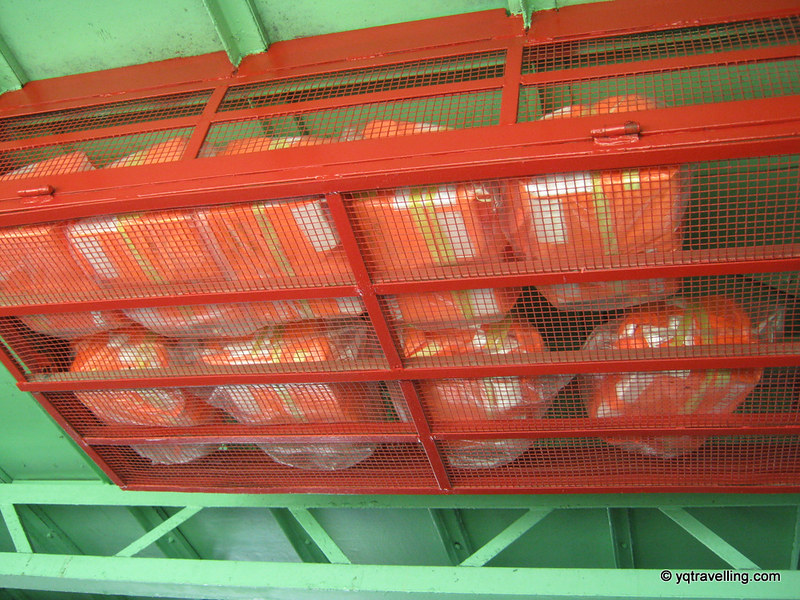 Life jackets on ferry