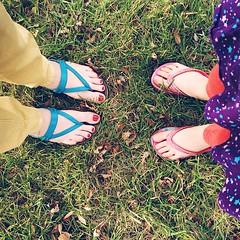 Flip flops in December? #weird
