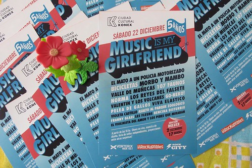 Flyer impreso Music Is My Girlfriend