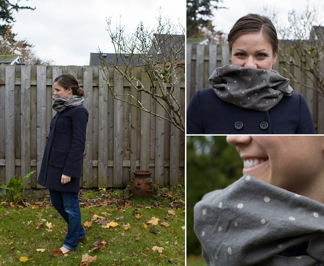 polka dot flannel commuter cowl