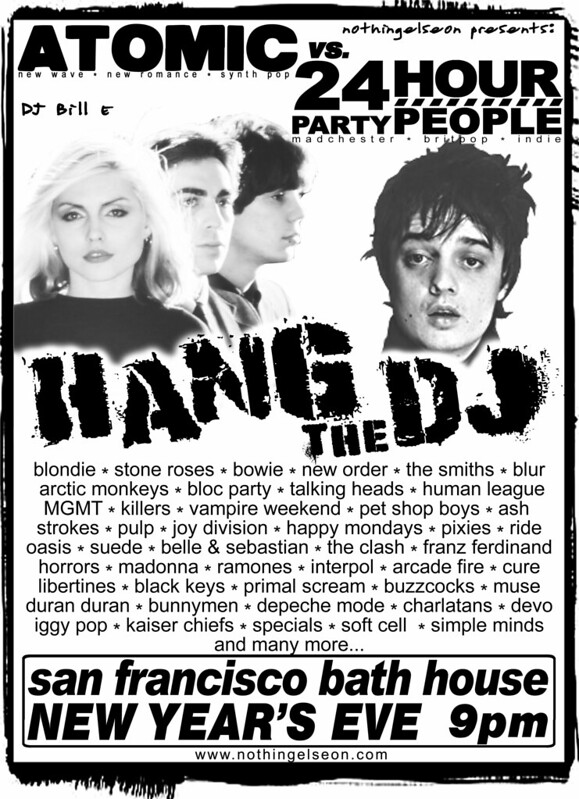 Hang the DJ. New Year's Eve