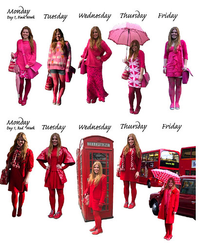 pink and red weeks