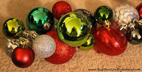 Making a holiday ornament garland