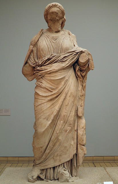 Colossal statue of a woman from the Mausoleum at Halicarnassus, traditionnally identified as Artemisia II of Caria, around 350 BC, from Bodrum (Turkey), British Museum