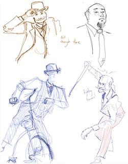 Dapper gentlemen : sketches