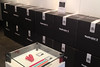 A wall of Replicator 2s at the makerbot store in NY