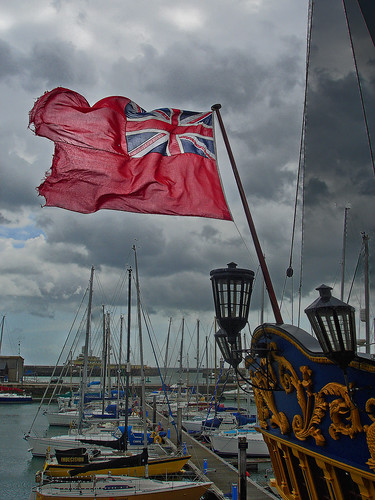 Ramsgate Harbour Grand Turk Flag by Kinzler Pegwell