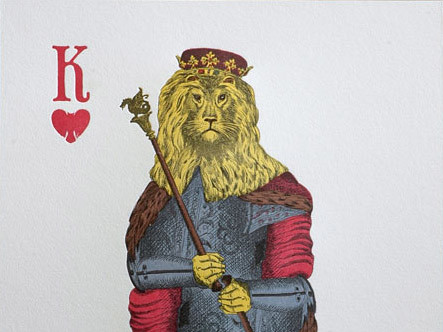 King of Hearts Lion poster print