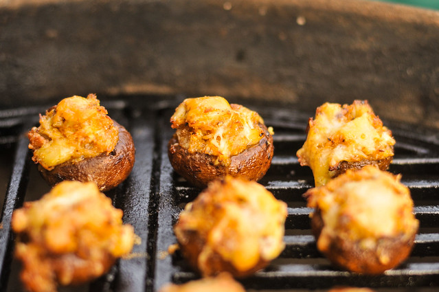 Grilled Crab and Fontina Stuffed Mushrooms Recipe :: The Meatwave