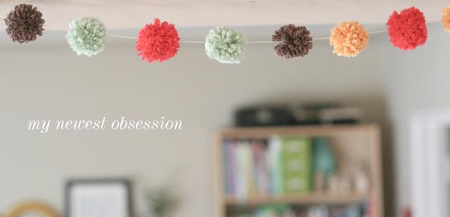 DIY yarn pom-pom garland | yourwishcake.com