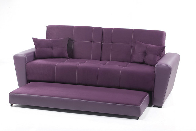 Sof cama sandirel morado placencia muebles flickr for Sofa cama catalogo