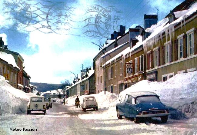 illustration du record de froid du 9 décembre 1967 à Mouthe météopassion