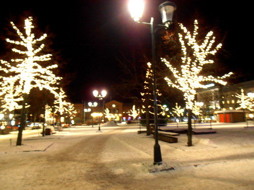 Arvika Square - Chistmas lights & snow, perfect combination