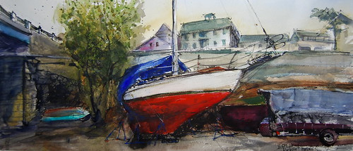 Winter Boats - Take 2 by Camden Sketcher