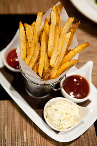 French fries, part of the hanger steak dish