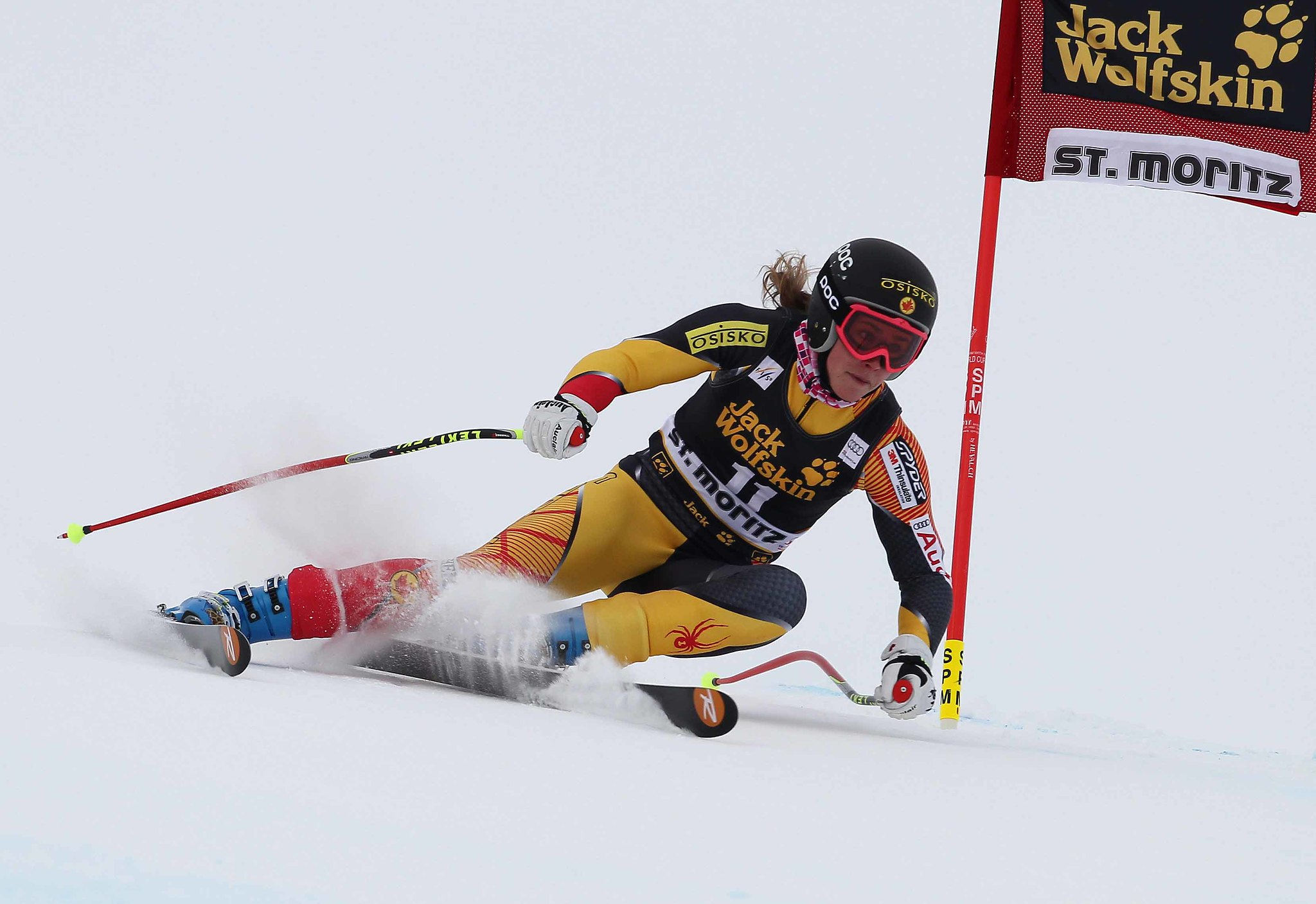 Marie-Michèle Gagnon competes in super combined in St. Moritz, Switzerland.